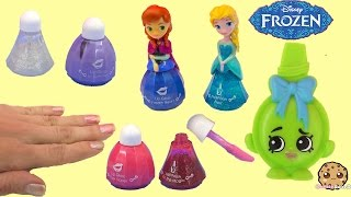 Disney Frozen Little Kingdom Queen Elsa Nail Polish Makeup Collection & Princess Anna Lip Gloss