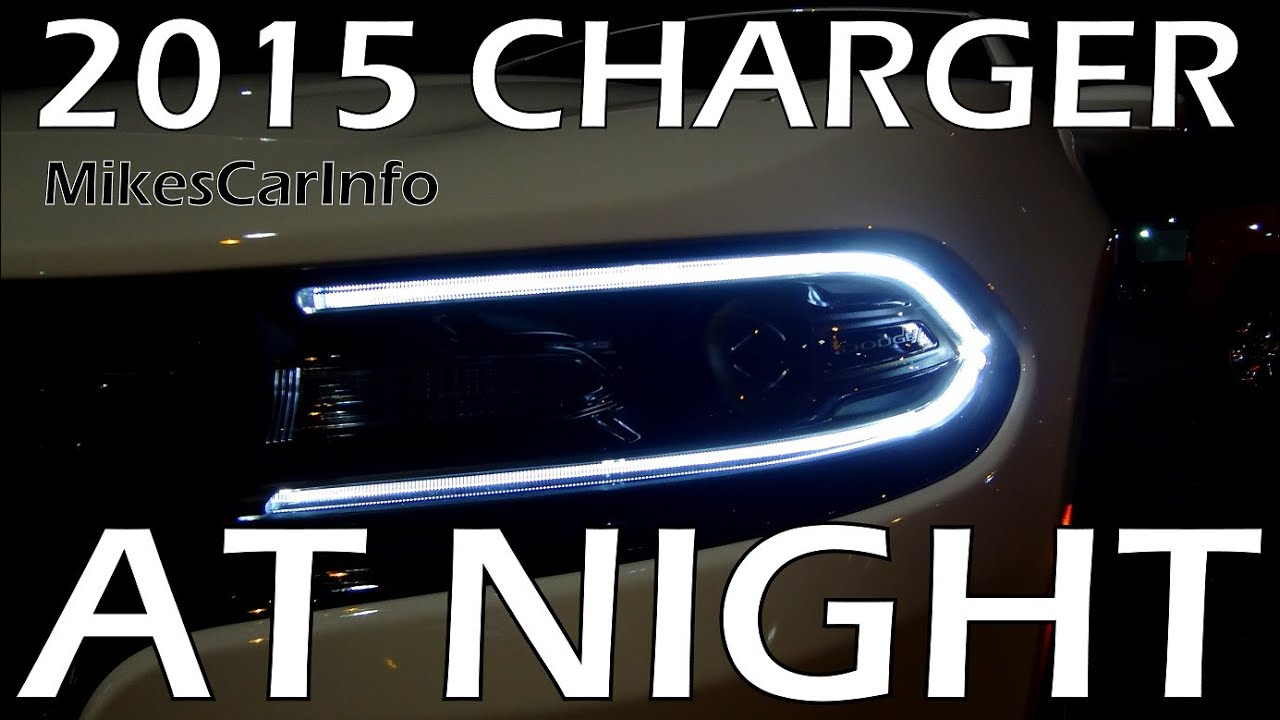 2015 Dodge Charger At Night Youtube