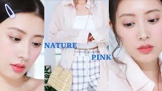 自然粉色日系妆容+穿搭  每日妆容穿搭3】 灵感来于森绘梨佳, 最后还有日...