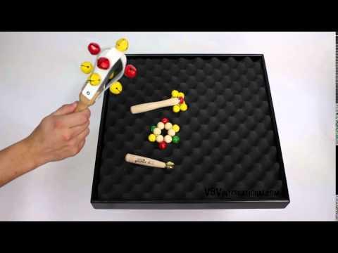 Jingle Maracas 25cm - Leather with 9 Bells - 3+ video
