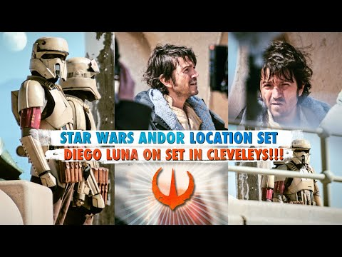 STAR WARS DIEGO LUNA PHOTOGRAPHED ON SET OF CLEVELEYS ANDOR LOCATION WORLD EXCLUSIVE IMAGES URBEX