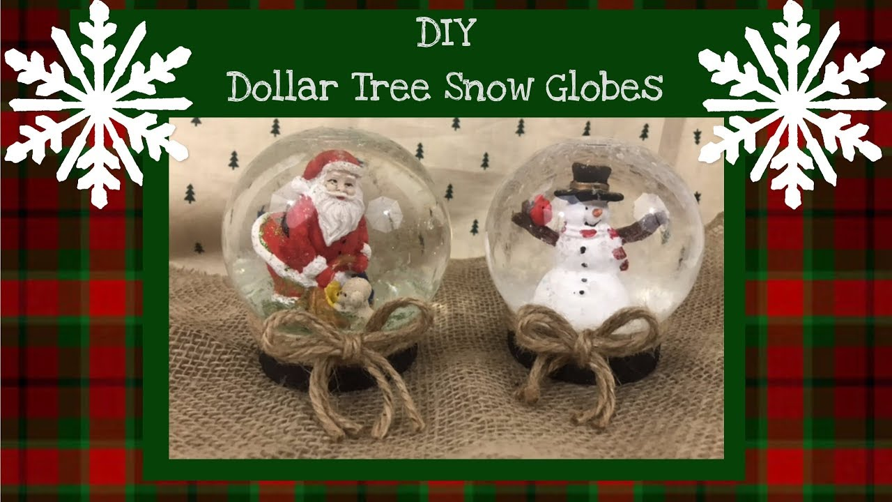 easy diy dollar treewalmart snow globes