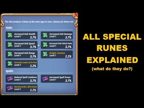 Royal Revolt 2: Special Runes Explained (+ TIPS)!!