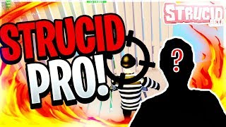 STRUCID 1V1 VERSUS PRO PLAYER (ROBLOX FORTNITE)