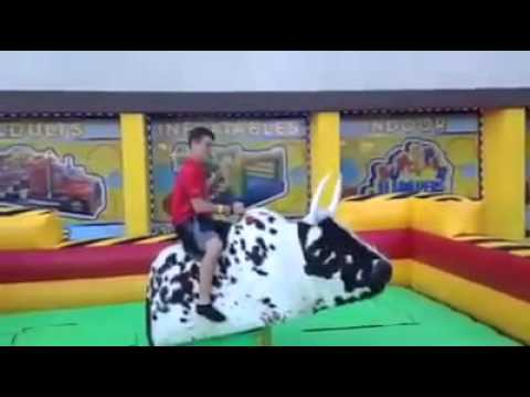 88e1f10fa53a Bull Ride at Bumper Jumpers Indoor Playground - YouTube