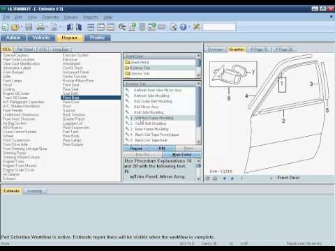 Auto Body Estimating Software -- Mitchell Estimating (Ultramate) Demonstration