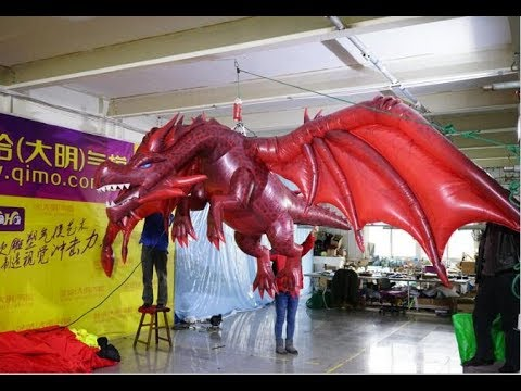 Dragon Halloween Decorations.2018 Halloween Decorations Gemmy Animated Inflatable Dragon For Nightclub S Ceiling Decorations Youtube