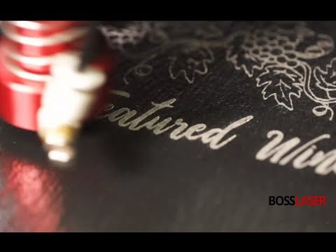 Laser Engraved Slate - Restaurant Featured Wine Menu - Boss Laser
