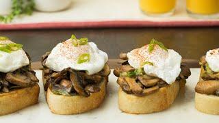 Creamy Mushroom Toasts •Tasty