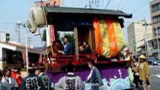 福生七夕祭りでの山車巡行 東京都福生市