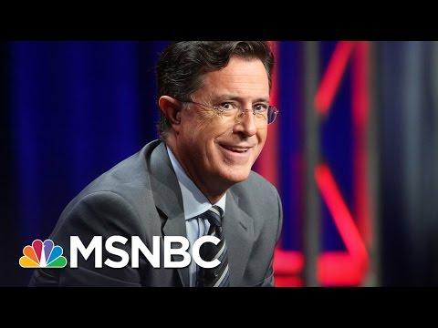 Hypocrisy Of Conservatives Upset About Stephen Colbert's President Trump Insults | AM Joy | MSNBC Mp3
