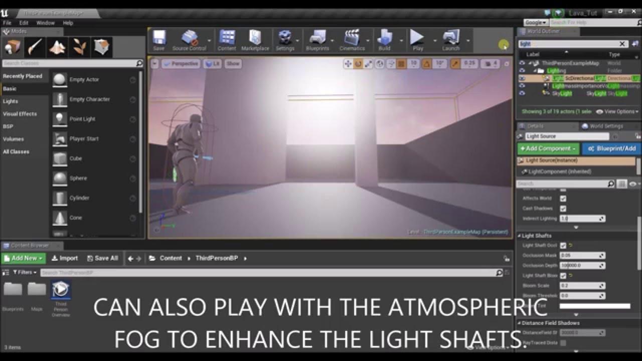 Unreal Engine 4 - Light shafts Tutorial