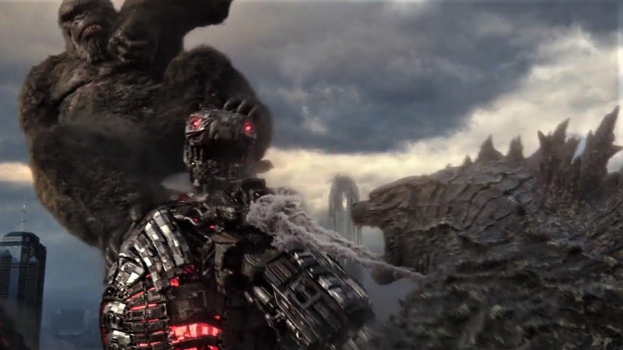 Godzilla and Kong vs Mechagodzilla (no background music) - Godzilla vs Kong  - YouTube
