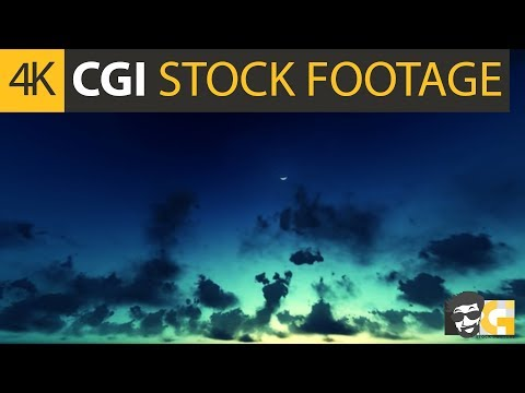 ( CGI 4k Stock Footage ) Dreamy fairy tale morning sky