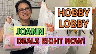 Joann Fabric & Hobby Lobby Fabric Haul ~ Right Now Deals
