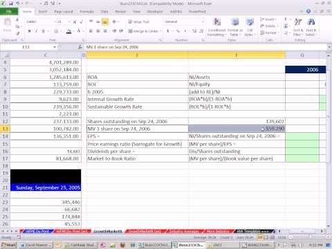Excel Finance Class 20: Growth Ratios and Market Value Ratios