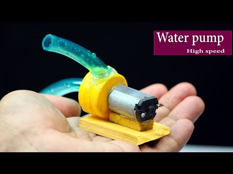 How to make high speedy mini water pump at home