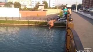 Ташкент (самые улётные прыжки в воду с моста )26.07.2016