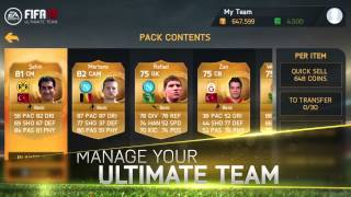 FIFA 15 Ultimate Team Mobile - Gameplay Trailer