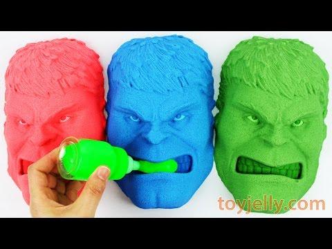 Kinetic Sand Hulk Slime Baby Milk Bottle VS Play Doh Cars VS Kinetic Foam Ice Cream Cup Surprise DIY