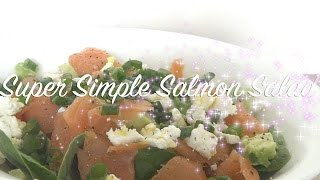Super Simple Salmon Salad Recipe | Quick & Healthy | Stop Motion Video