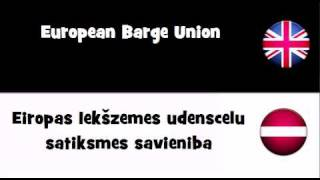 VOCABULARY IN 20 LANGUAGES = European Barge Union