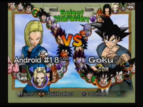 Dragon Ball Z Budokai 2 Character List YouTube