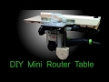 DIY mini router table with a simple router lift based on Festool OF 1010