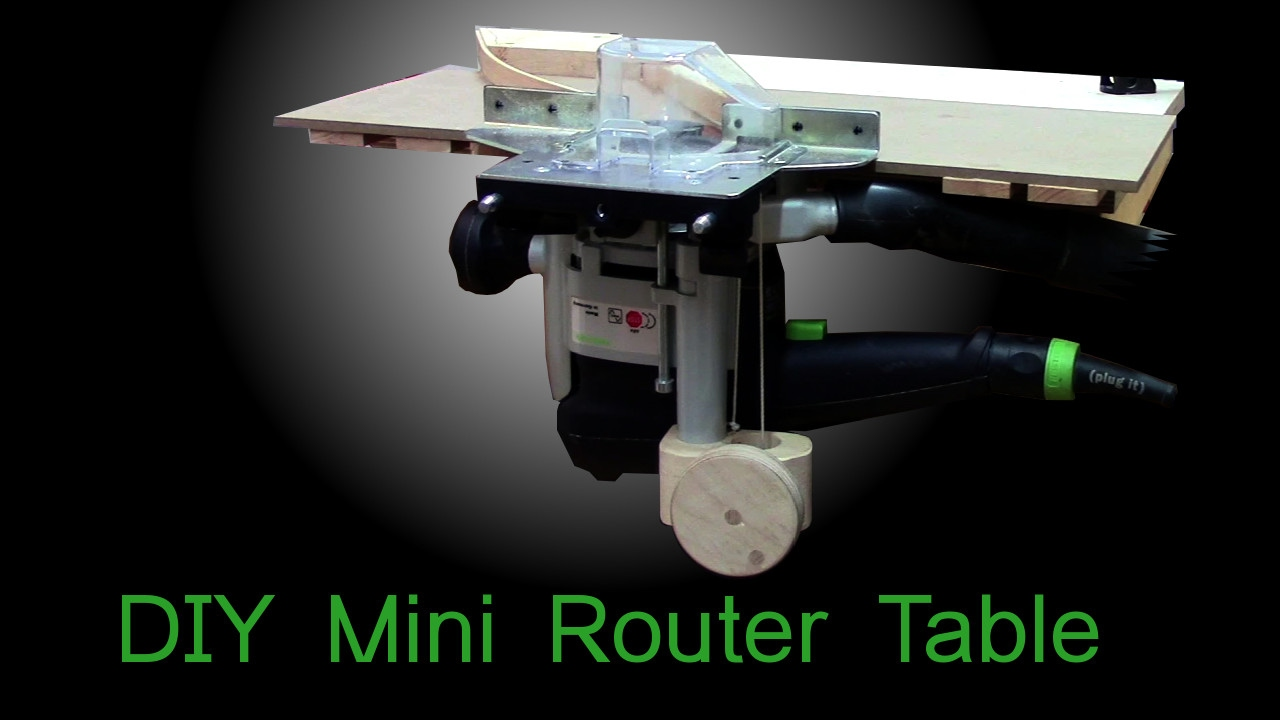 Diy mini router table with a simple router lift based on festool of diy mini router table with a simple router lift based on festool of 1010 greentooth Images