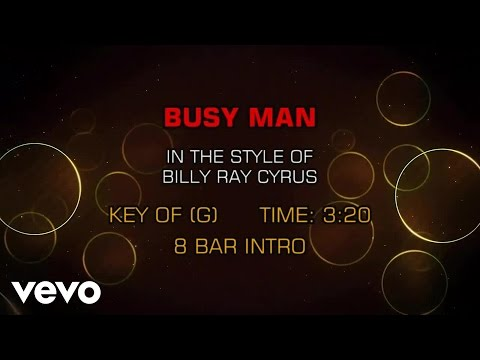 Billy Ray Cyrus - Busy Man (Karaoke)