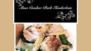 Slow Cooker Pork Tenderloin With Apple & Onion