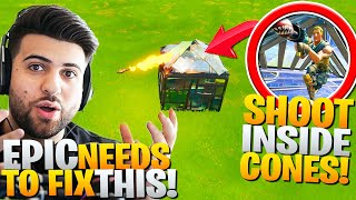 Shoot *THROUGH* CONES! Epic NEEDS To Fix This! (Fortnite Battle Royale RPG Trick)