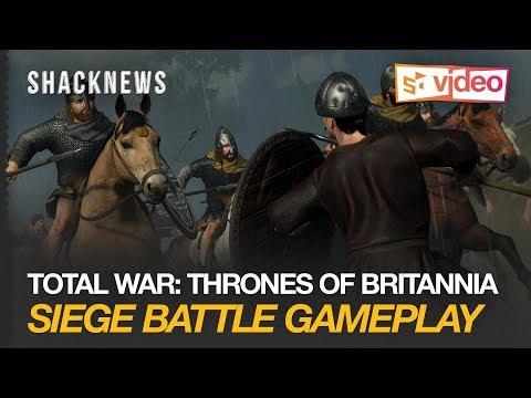 Total War: Thrones of Britannia Siege Battle Gameplay