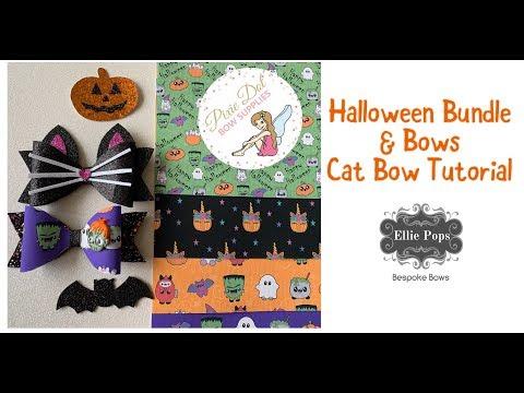Tutorial: Halloween Cat Bow & Halloween Fabric Supplier thumbnail
