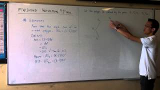 Induction: Geometry Proof (Angle Sum of a Polygon)