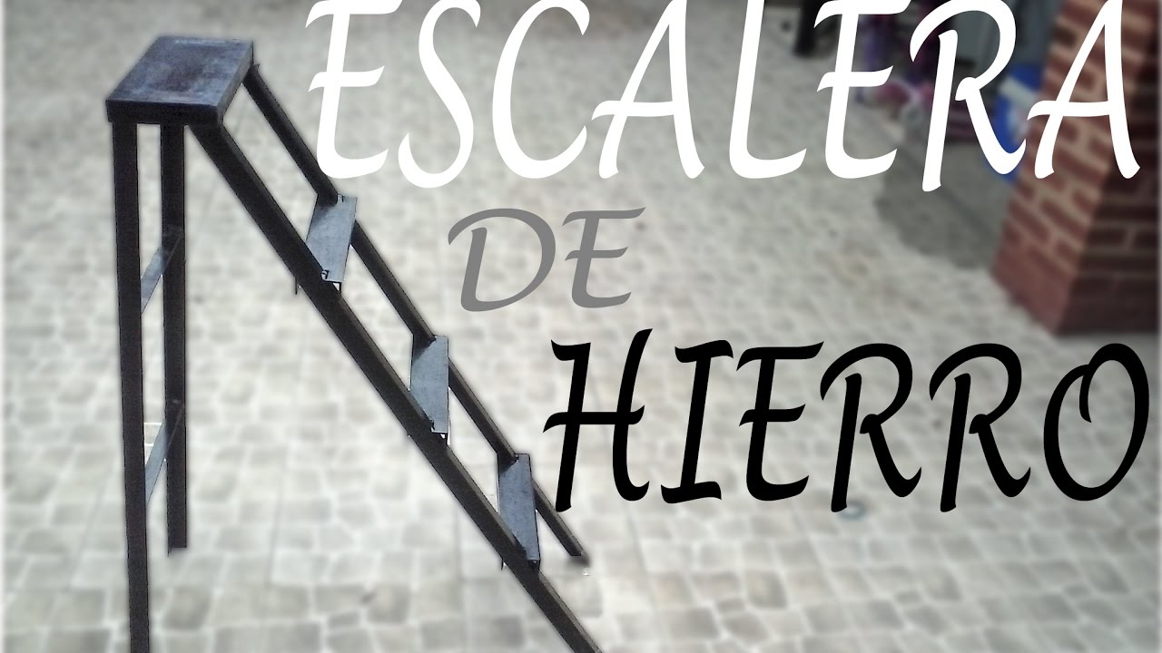 Como hacer una escalera de hierro paso a paso youtube for Como construir una escalera metalica