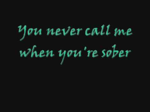 Evanescence - Call Me When You're Sober ( Lyrics )