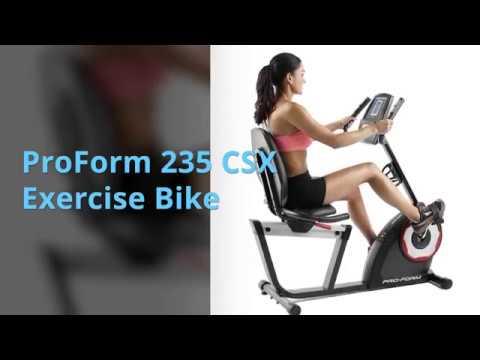Proform 235 Csx Exercise Bike Youtube