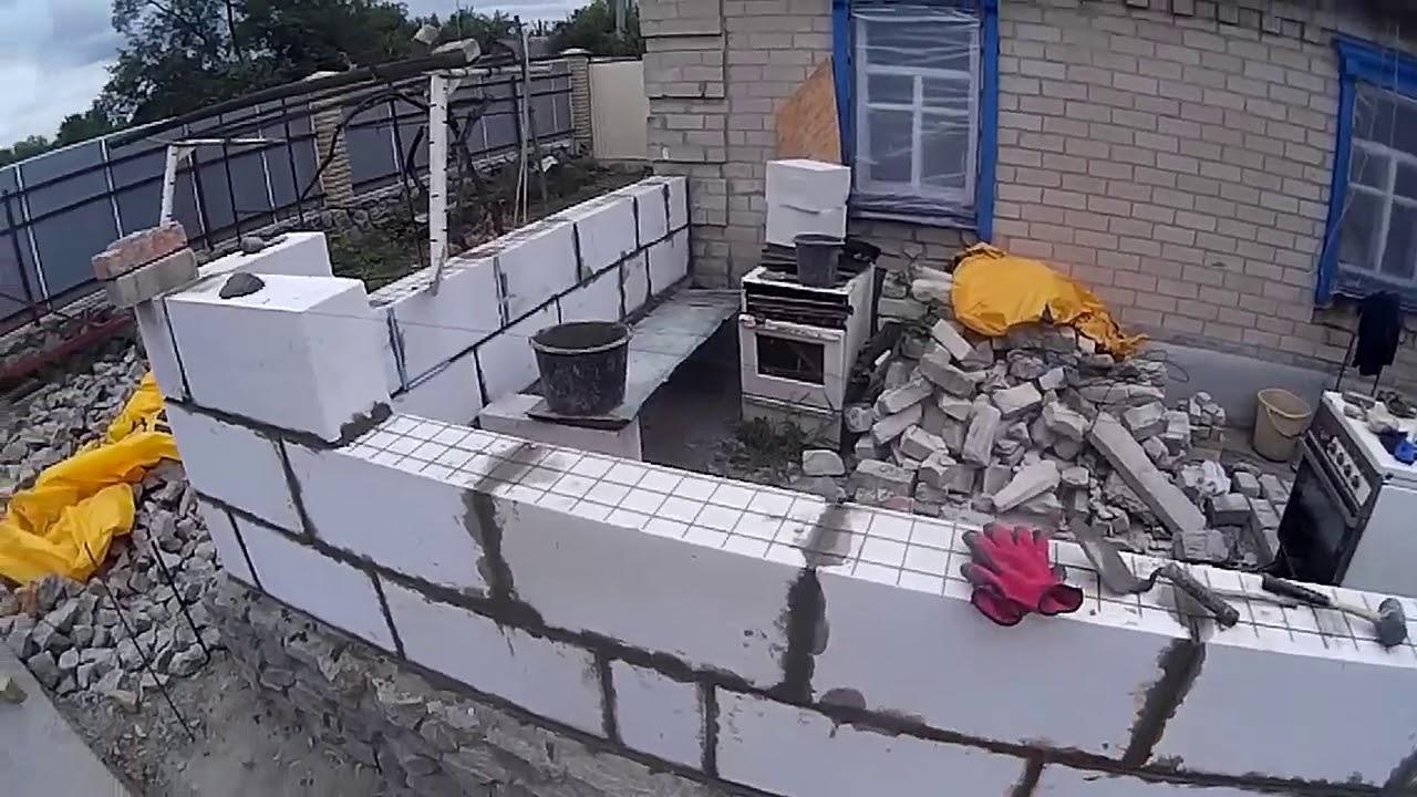 Видео кладка пеноблоков на цементный раствор бетон 200 цена за куб в москве