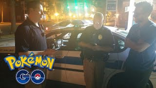 playing pokemon go with cops