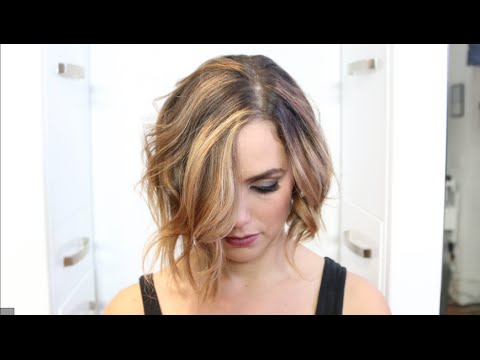 How To  Balayage Blonde Bronde Textured Chopped Bob Makeover