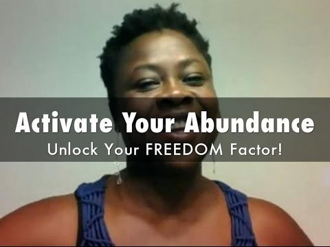 Activate Your Abundance  Unlock Your FREEDOM Factor! Live 10k in 30 day webinar with guest Maggie
