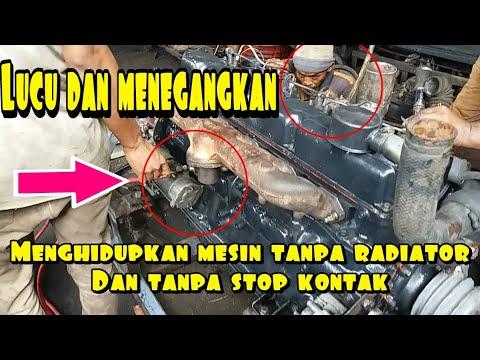 LUCU DAN MENEGANGKAN CARA MENGHIDUPKAN MESIN DISEL TANPA RADIATOR#Bayu Putra Motor
