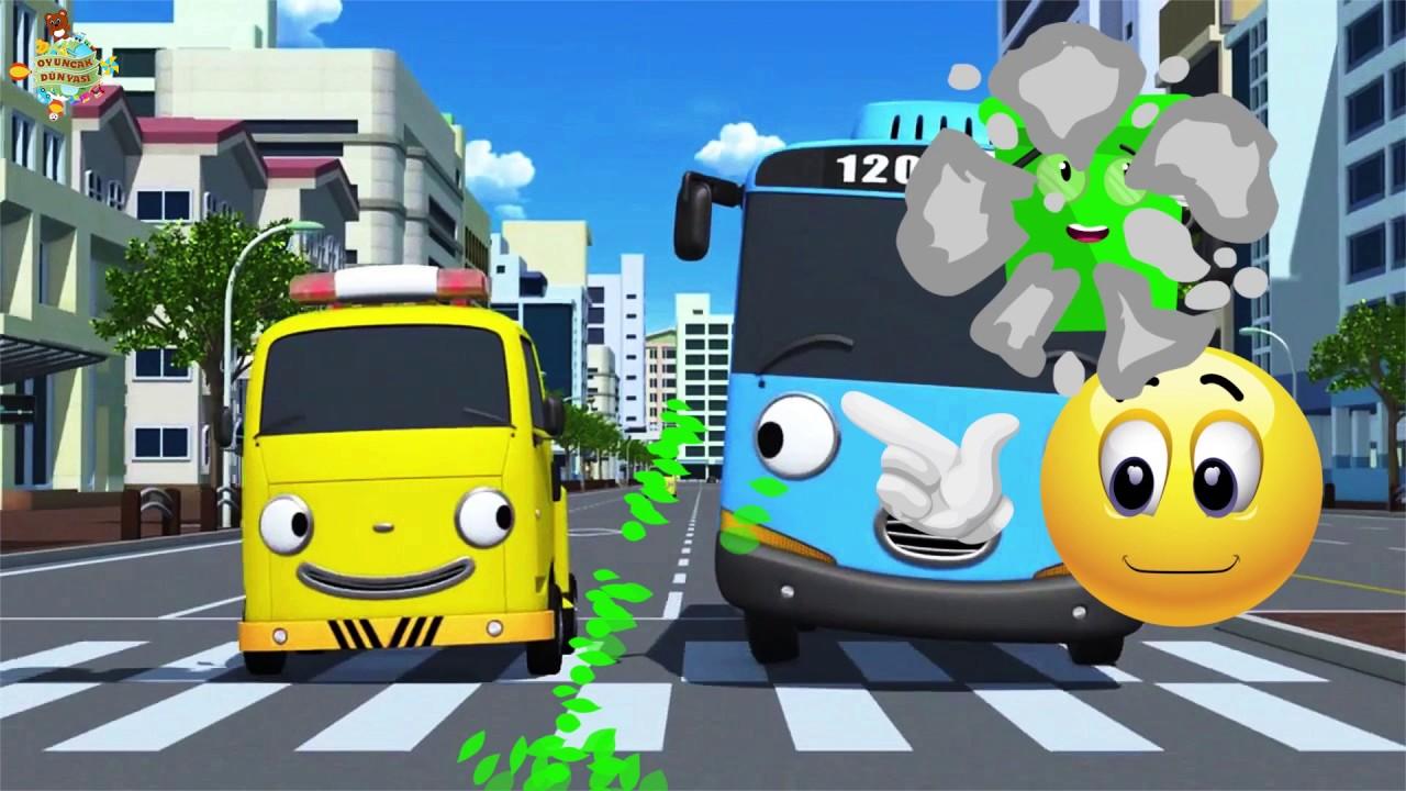 Oyuncak Dünyası Küçük Otobüs Tayo Renklendirme Boyama Oyunu