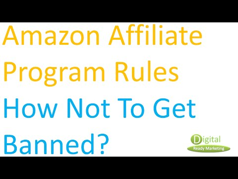 amazon affiliate program rules