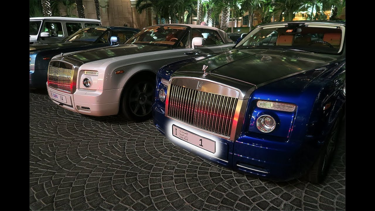 Rolls Royce With Number 1 Plate Belongs To The Prince Of Dubai