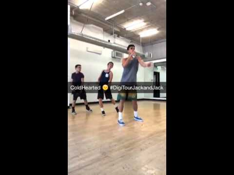 Jack and jack rehearsing coldhearted
