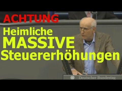 """Bundestag: """"Heimliche massive Steuererhöhungen und Enteignungen"""" -"""