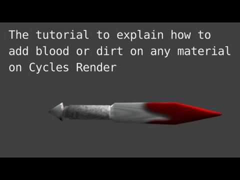 Blender Tutorial 3d How To Add Blood Or Dirt On Any Material On Cycles Render Youtube Blood bursts and splatters for blender. blender tutorial 3d how to add blood or dirt on any material on cycles render