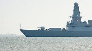 Wilhelmshaven: Britischer Zerstörer HMS DUNCAN (D37) läuft aus